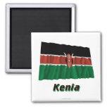 Mit Namen de Kenia Fliegende Flagge Imán De Frigorifico