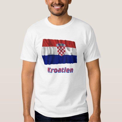 Mit Namen de Kroatien Fliegende Flagge Playera