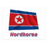 Mit Namen de Nordkorea Fliegende Flagge Tarjetas Postales