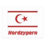 Mit Namen de Nordzypern Flagge Postal