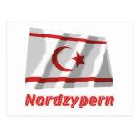 Mit Namen de Nordzypern Fliegende Flagge Postal