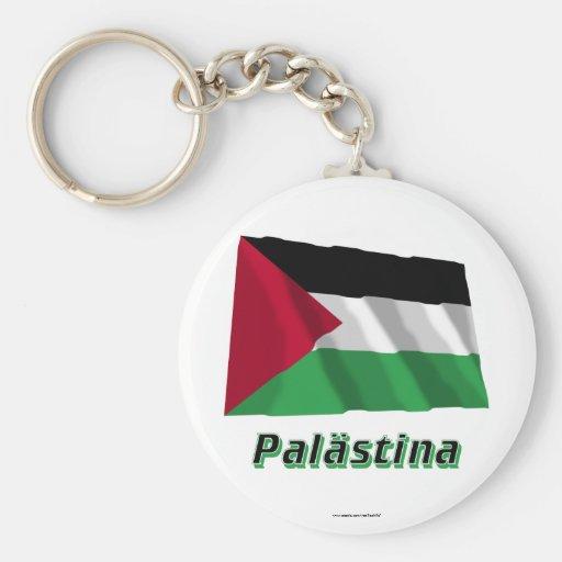 Mit Namen de Palästina Fliegende Flagge Llavero Redondo Tipo Pin