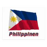 Mit Namen de Philippinen Fliegende Flagge Postales