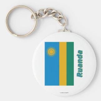 Mit Namen de Ruanda Flagge Llavero Personalizado