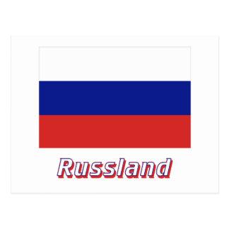 Mit Namen de Russland Flagge Postales