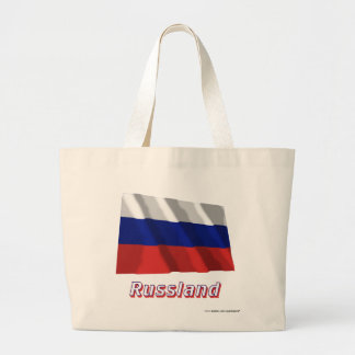 Mit Namen de Russland Fliegende Flagge Bolsa Tela Grande