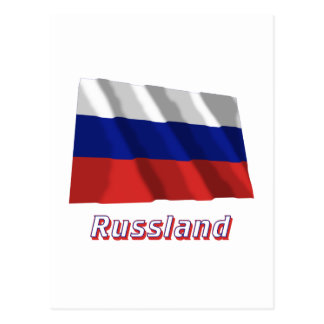 Mit Namen de Russland Fliegende Flagge Tarjetas Postales