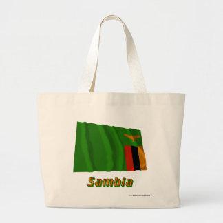 Mit Namen de Sambia Fliegende Flagge Bolsa Tela Grande