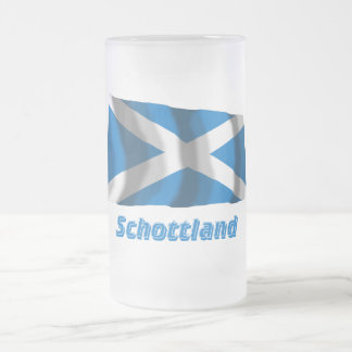 Mit Namen de Schottland Fliegende Kreuzflagge Jarra De Cerveza Esmerilada