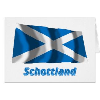 Mit Namen de Schottland Fliegende Kreuzflagge Tarjeta De Felicitación