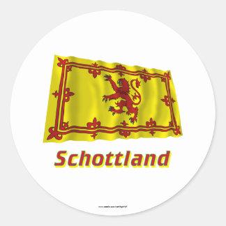 Mit Namen de Schottland Fliegende Löwenflagge Pegatina Redonda