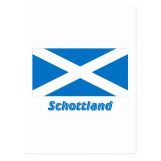 Mit Namen de Schottland Kreuzflagge Tarjeta Postal