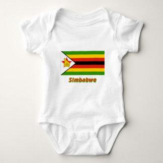 Mit Namen de Simbabwe Flagge Body Para Bebé
