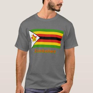 Mit Namen de Simbabwe Flagge Playera