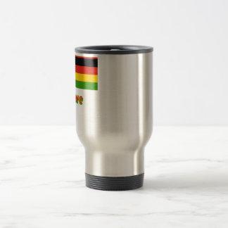 Mit Namen de Simbabwe Flagge Taza De Viaje