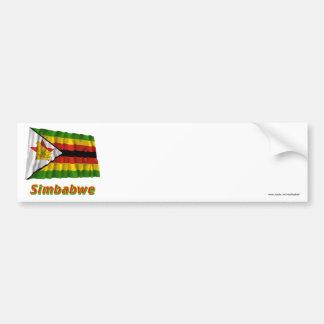 Mit Namen de Simbabwe Fliegende Flagge Pegatina Para Auto