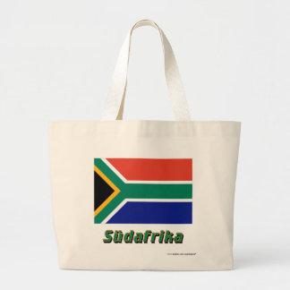 Mit Namen de Südafrika Flagge Bolsa Tela Grande