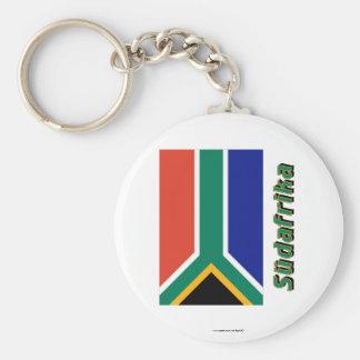 Mit Namen de Südafrika Flagge Llavero Redondo Tipo Pin