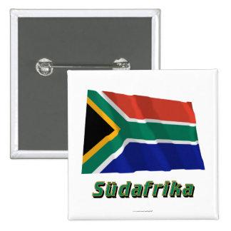 Mit Namen de Südafrika Fliegende Flagge Pin Cuadrada 5 Cm