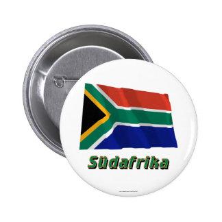 Mit Namen de Südafrika Fliegende Flagge Pin Redondo 5 Cm