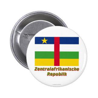 Mit Namen de Zentralafrikanische Republik Flagge Pin Redondo 5 Cm