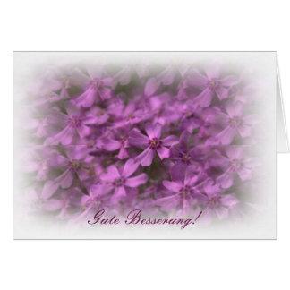 Mit Rosa Blumen de Gute Besserung Tarjeta De Felicitación