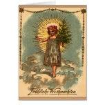 """Mit Weihnachtsbaum de Weihnachtskarte """"Engel """" del Tarjetas"""