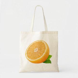 Mitad de la fruta anaranjada bolsa tela barata