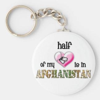 mitad de mi corazón… Afganistán 2 Llavero Personalizado
