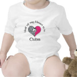 Mitad de mi corazón Cuba Camiseta