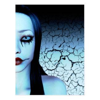 Mitad de mí postal del arte del gótico