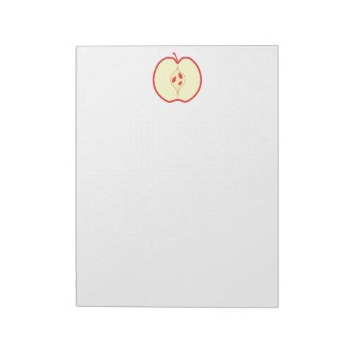 Mitad de un Apple rojo Bloc De Notas