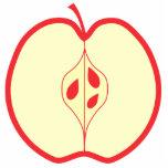 Mitad de un Apple rojo Escultura Fotografica