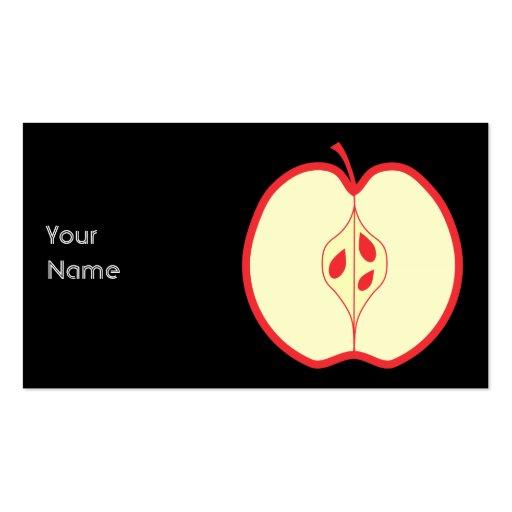 Mitad de un Apple rojo Tarjeta De Visita