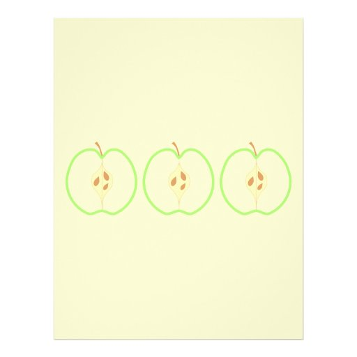 Mitad de un Apple verde Tarjetas Publicitarias