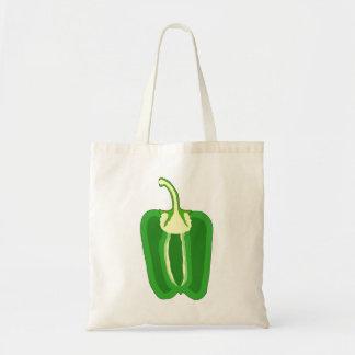 Mitad de un paprika Verde Bolsa De Mano