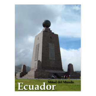 Mitad del Mundo Ecuador equator line monument Postcard