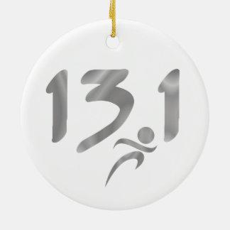 Mitad-maratón 13 1 de la plata adorno