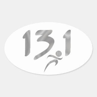 Mitad-maratón 13 1 de la plata etiquetas