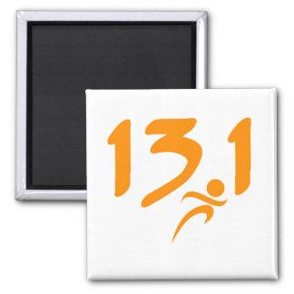 Mitad-maratón 13 1 del naranja iman para frigorífico