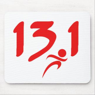 Mitad-maratón 13,1 del rojo alfombrilla de raton