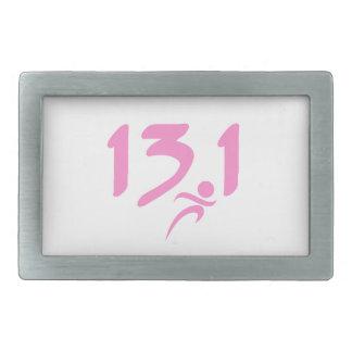 Mitad-maratón 13 1 del rosa hebilla cinturón rectangular