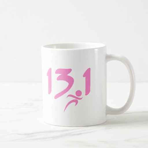 Mitad-maratón 13,1 del rosa taza