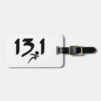 mitad-maratón 13,1 etiquetas de equipaje