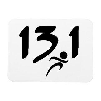 mitad-maratón 13 1 imán flexible