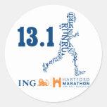 Mitad-Maratón de Hartford: 13,1 Pegatina Redonda
