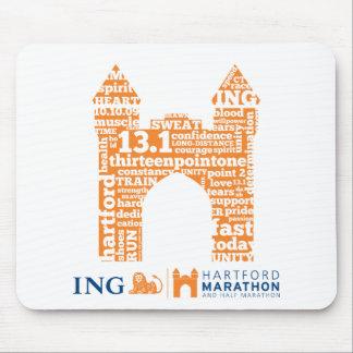 Mitad-Maratón de Hartford: Arco Tapetes De Ratones