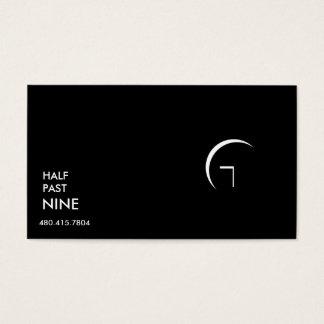 Mitad más allá de nueve tarjetas de visita