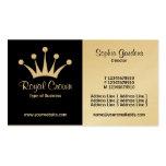 Mitad y medio (corona) - blanco y negro (oro) plantilla de tarjeta de negocio