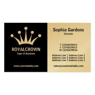Mitad y medio (corona) - blanco y negro (oro) tarjetas de visita